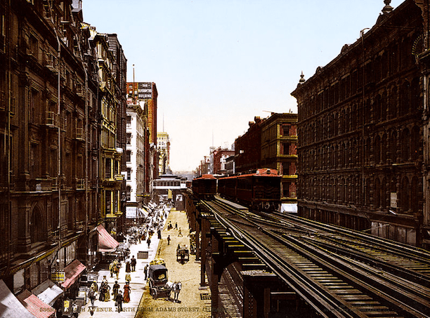 "The Chicago ""Loop"" in 1900. (Photo Credit: trialsanderrors)"