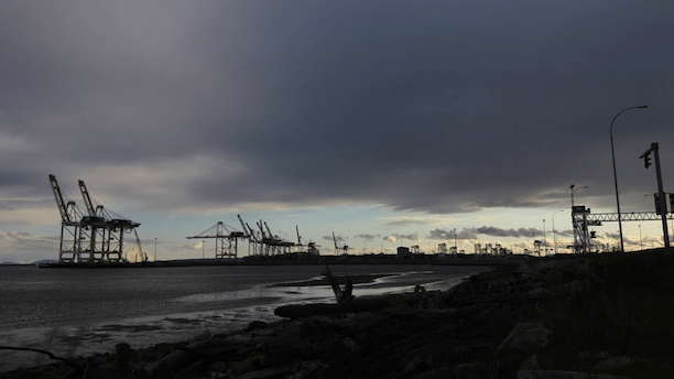 Delta Port, the biggest coal exporter in North America. (Photo: Robert Alstead / Running on Climate)