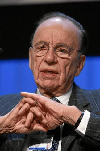 Rupert Murdoch at the World Economic Forum Annual Meeting in Davos, in 2007. (Photo Credit: Flickr)