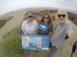 MPA Sign installed at Zuma Beach MPA with USC Sea Grant, Heal the Bay, and L.A. Waterkeeper