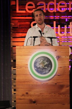 Cousteau speaking at the Climate Reality training in Miami. (Photo: Juli Schulz)