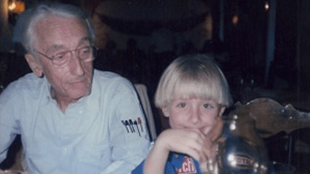 A young Philippe Cousteau, Jr., with his grandfather, Captain Jacques-Yves Cousteau. (Photo: Philippe Cousteau, Jr.)