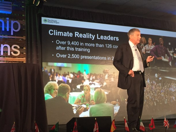 Ken Berlin, President and CEO of the Climate Reality Project, giving a presentation at the Climate Reality Leadership training in Miami, FL. (Photo Credit: Juli Schulz)