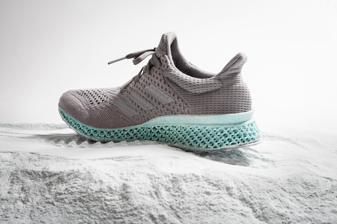 The Adidas-Parley for the Oceans concept shoe. (Photo courtesy of Adidas)