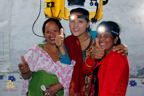 Midwives in Nepal with a Solar Suitcase. (Photo Credit: Suraj Shah)