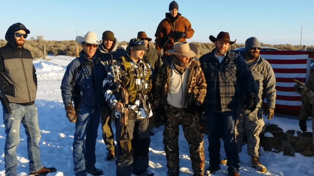 Ammon Bundy and his militia at the Malheur National Wildlife Refuge. (Source: YouTube screenshot)