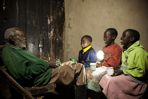 Solar innovations, such as the Solar Aid Lamp developed by the Honnold Foundation (pictured), are already lighting up homes in Kenya, Malawi, Tanzania and Zambia. (Photo courtesy of the Honnold Foundation)