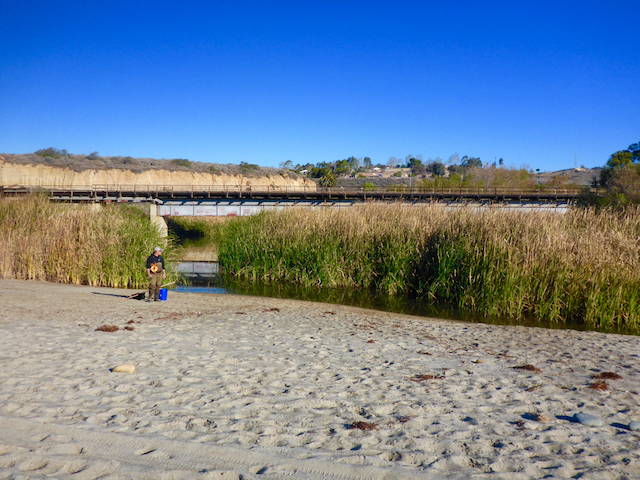 San Onofre Creek Lagoon on December 18, 2015, less than three weeks before El Niño storms caused the lower lagoon to breach. (Photo Credit: Brenton Spies)