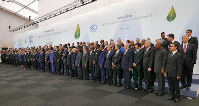 Heads of delegations at the 2015 United Nations Climate Change Conference in Paris. (Source: Flickr)