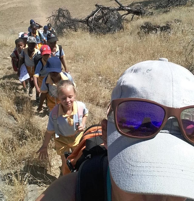 KEEP class traveling through the Daan Viljoen Game Reserve. (Photo courtesy of GCF)