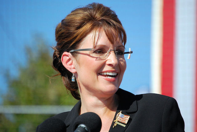 Sarah Palin Sarah Palin speaking at a rally in Elon, NC during the 2008 Presidential Campaign. (Photo Credit: Therealbs2002 via WikiMedia Commons)