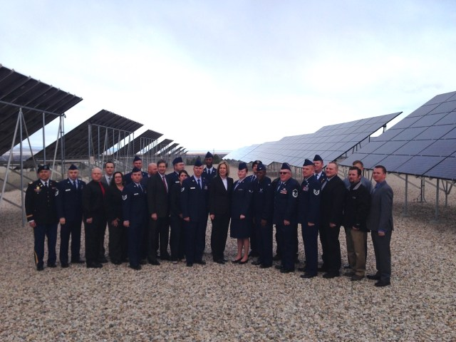 DOE Deputy Secretary Dr. Elizabeth Sherwood Randall posing with the first cohort to graduate from the Hill Air Force Base Solar Ready Vets Cohort - training provided by Salt Lake Community College. (Photo courtesy of TSF)