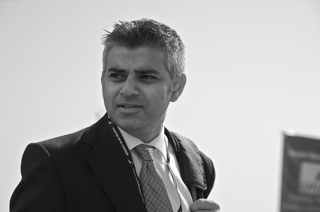 British politician Sadiq Khan, in Brighton during the Labour Party Conference, Sept. 2009. (Photo Credit: Steve Punter)