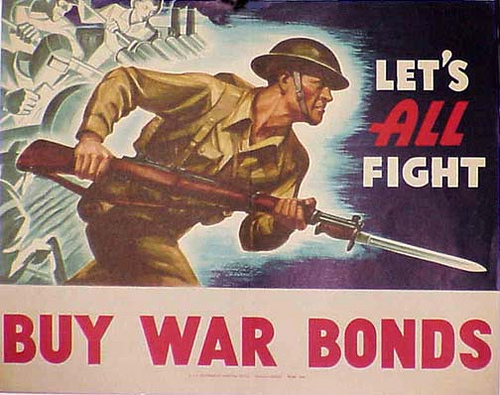 A war bond from 1942. (Photo courtesy of the U.S. Treasury Dept.)
