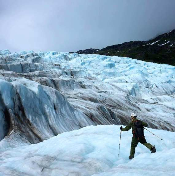 Photo of Park Ranger at Kenai Fjords National Park.