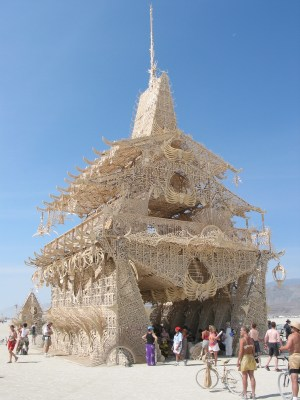 The Temple Of Joy (by David Best and crew) at Burning Man in Black Rock City, Nevada. (Photo Credit: Keith Pomakis)