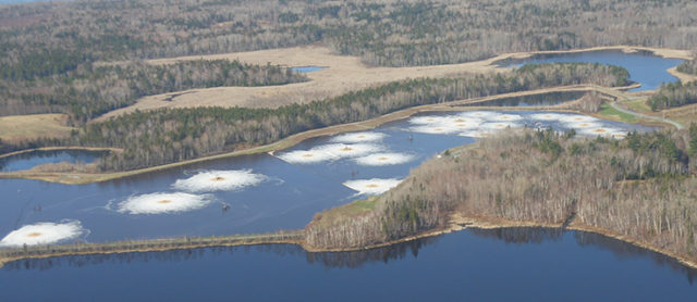 Boat Harbour, a contaminated site in Pictou Landing First Nation. (Photo: Silver Donald Cameron / FUTURE PERFECT)