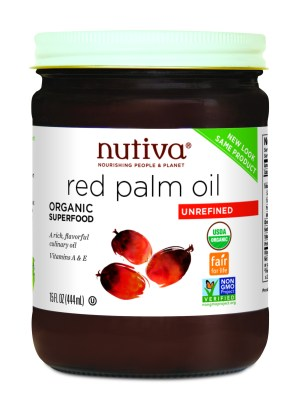 Nutiva's red palm oil.