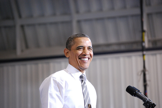 President Barack Obama speaking in 2012. (Photo: Daniel Borman / Flickr)