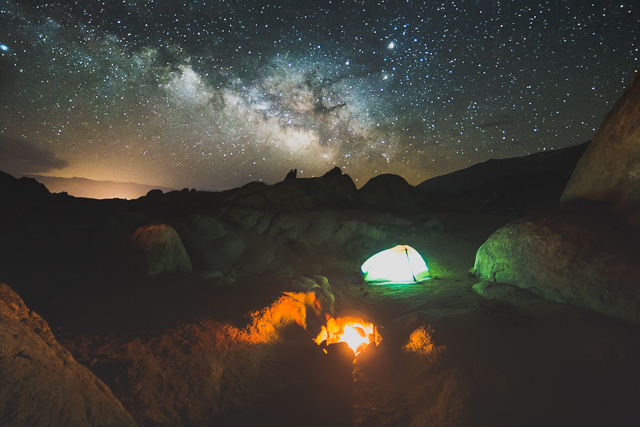 The Milky Way rises over the Alabama Hills Recreation Area, which is managed by the BLM. (Photo: Brian Klonoski)