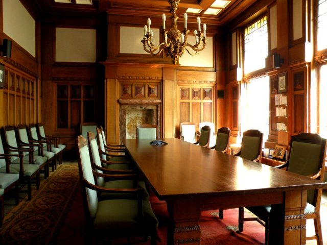 Boardroom at the head office of DHB Bank. (Photo Credit: G.zengin / WikiMedia Commons)