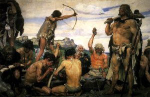 For the record, studies indicate that our stone age ancestors did eat their fair share of carbs. (Image Credit: Viktor Vasnetsov)