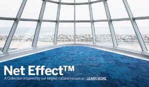 """Net Effect"" is a carpet type from Interface Global inspired by the ocean's surface. (Photo via Interface Global)"