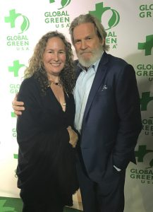 Dianna Cohen and Jeff Bridges at the 14th Annual Global Green Pre-Oscar Party at TAO Hollywood on February 22, 2017 in Los Angeles, California. (Photo: Jedamiah Wolf / Planet Experts)
