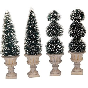 cone shaped sculpted topiaries lemax