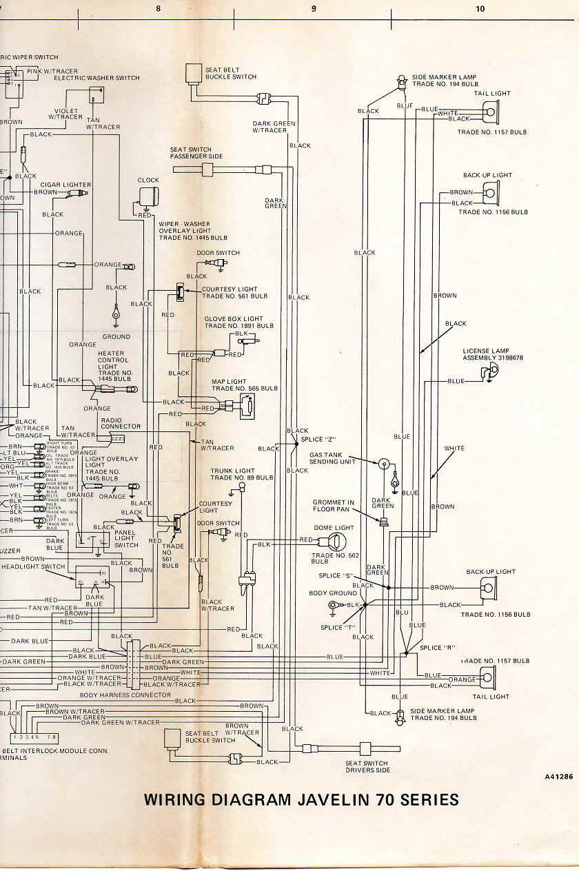 hight resolution of amc electrical troubleshooting74 javelin wiring harness 3 jpg 205674 bytes