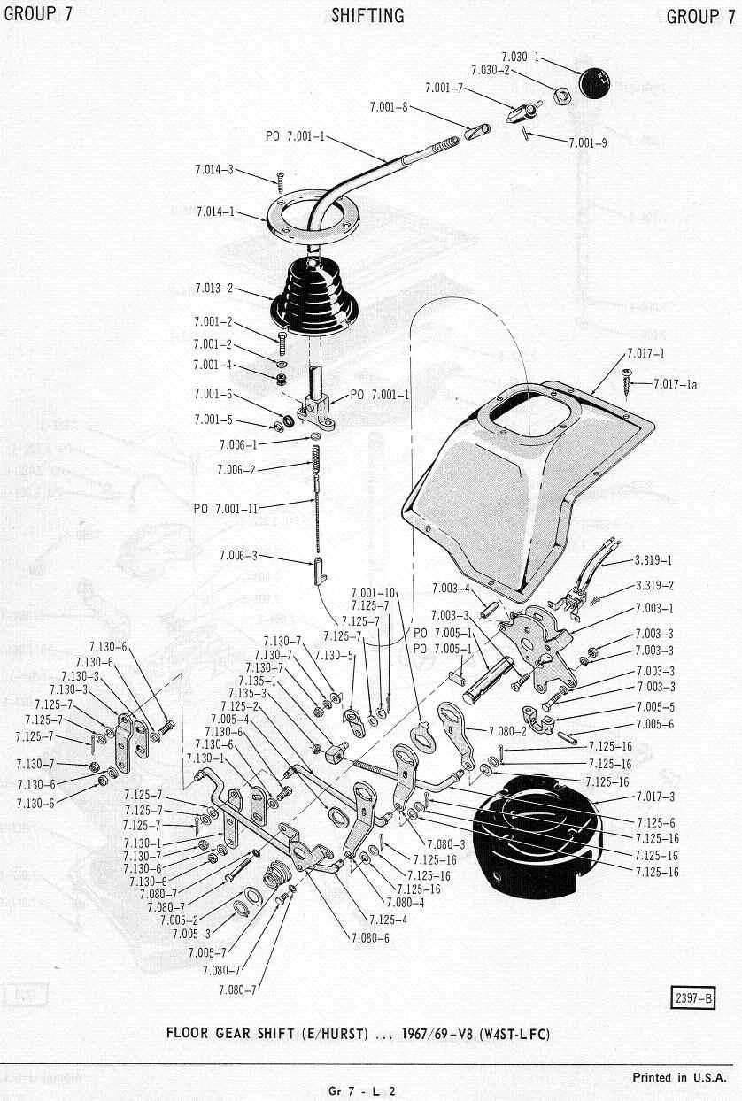 hight resolution of amc 69 74 hurst four speed shifter