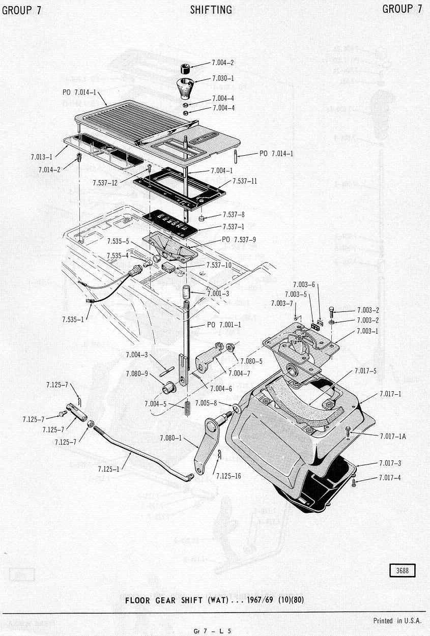 medium resolution of amc 68 69 automatic console floor mount shifter borg warner m 11 m12