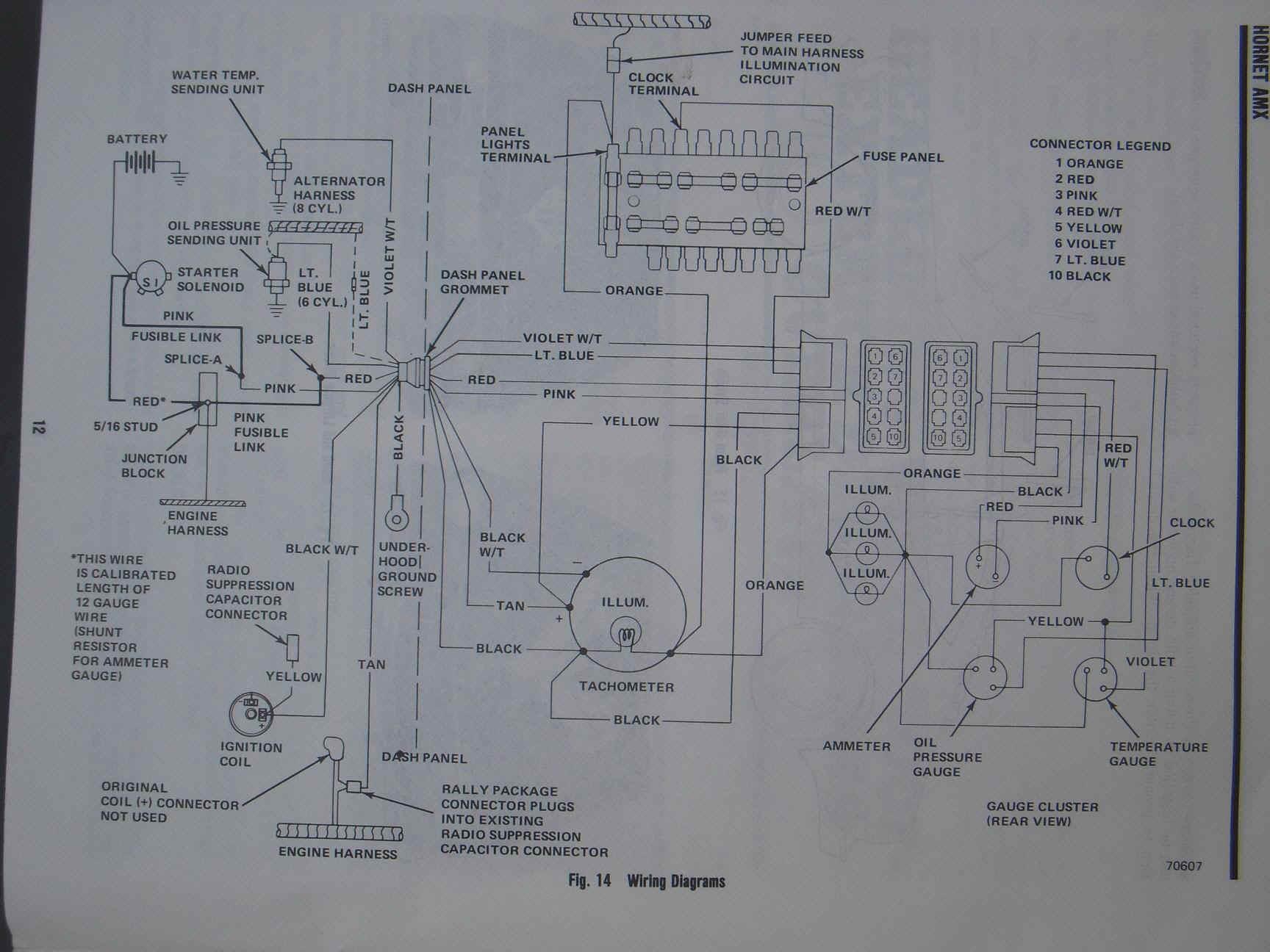 Amc Wiring Harness Diagram 2014 chevy silverado light bulb ... on amx parts, amx speedometer, amx headlight, amx engine,