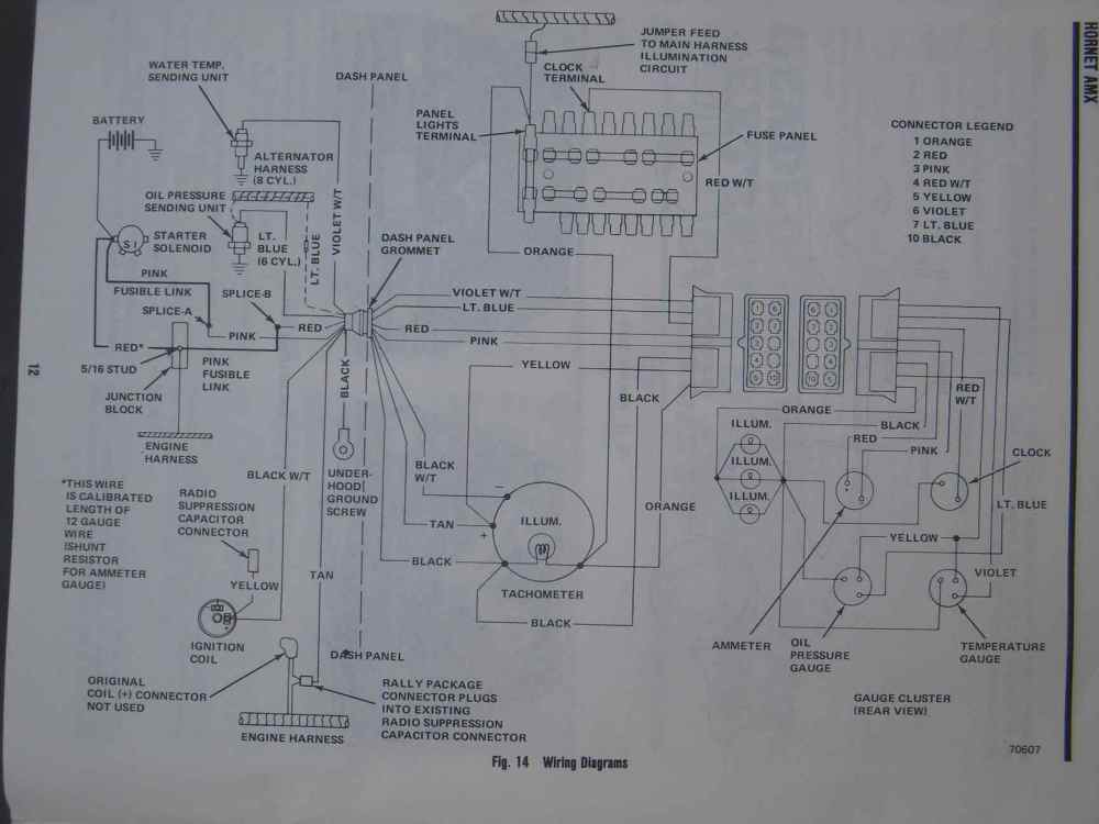medium resolution of 1968 amc javelin tachometer wiring diagram simple wiring schema amc javelin seats 1974 amc javelin wiring diagram
