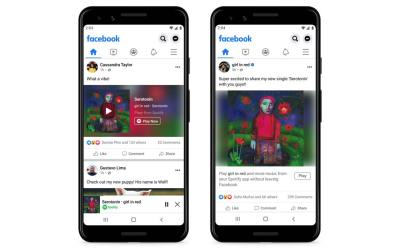 Facebook and Spotify Miniplayer