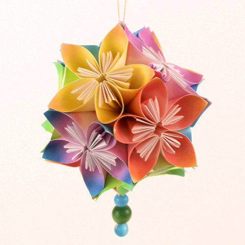 Diy folded paper flowers kusudama origami the best flower of 2018 easy origami kusudama flower 1 tutorial paper flowers the chilly dog mightylinksfo Choice Image