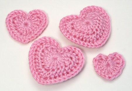 love hearts crochet pattern by planetjune