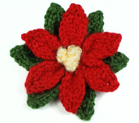 Free Pattern - Knit Poinsettia Flower