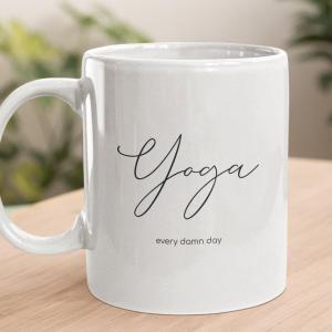 Yoga Every Day Ceramic Mug Planet Keiki Eco-friendly Home Goods Sustainable Gifts