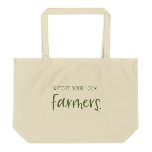 Support Your Local Farmers Large eco-tote bag