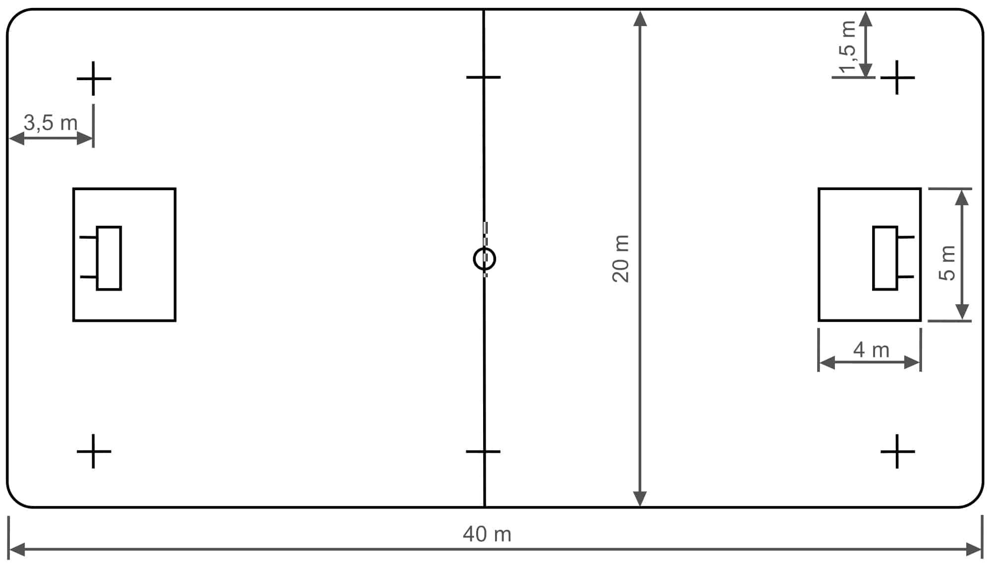 handball court diagram winnebago wiring floorball un sport de passion planetloisirs