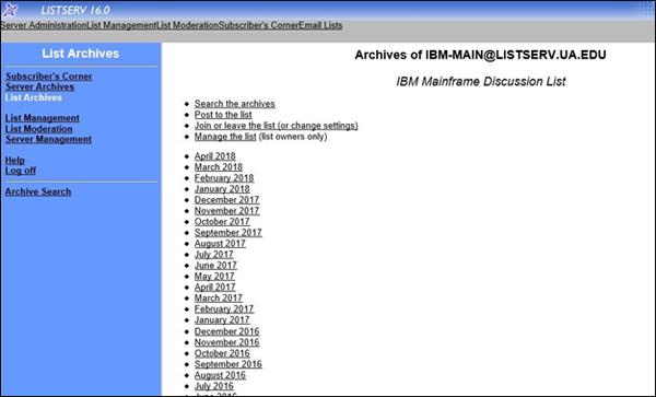 IBM Listserv
