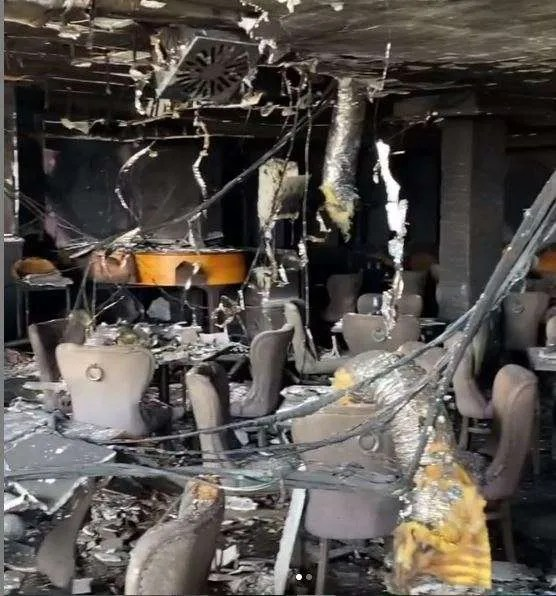 Olivia's gutted interior