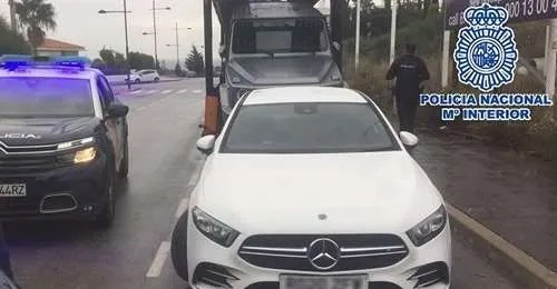 Police seized the car as it was being loaded onto a transporter