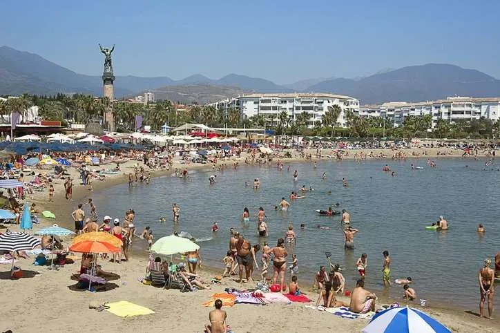 Marbella was busy for the national day holiday