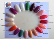 planet nails - coloured acrylic