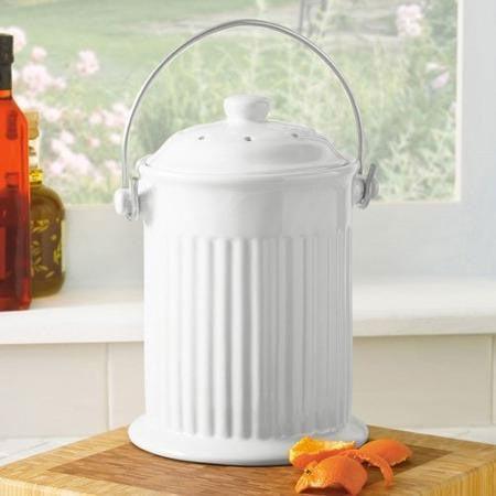 Ceramic Kitchen Compost Crock 1gal  Planet Natural