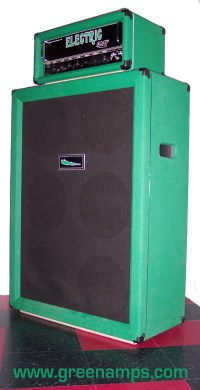 AMPLIFIERS and CABS - GREEN Electric Amp 6x12 Speaker Cabinet