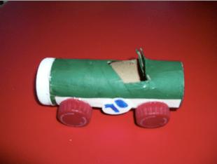 paper tube racecar recycle craft preschool kids