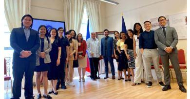 "AMBASSADOR LAGDAMEO WELCOMES ""PANDEMIC BATCH"" OF FILIPINO CHEVENING SCHOLARS TO SENTRO RIZAL LONDON"